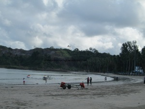 Carvin's cove beach in Port Blair , Andaman