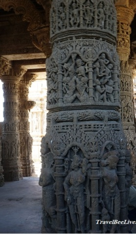 Close up of Pillar at sun temple Modhera