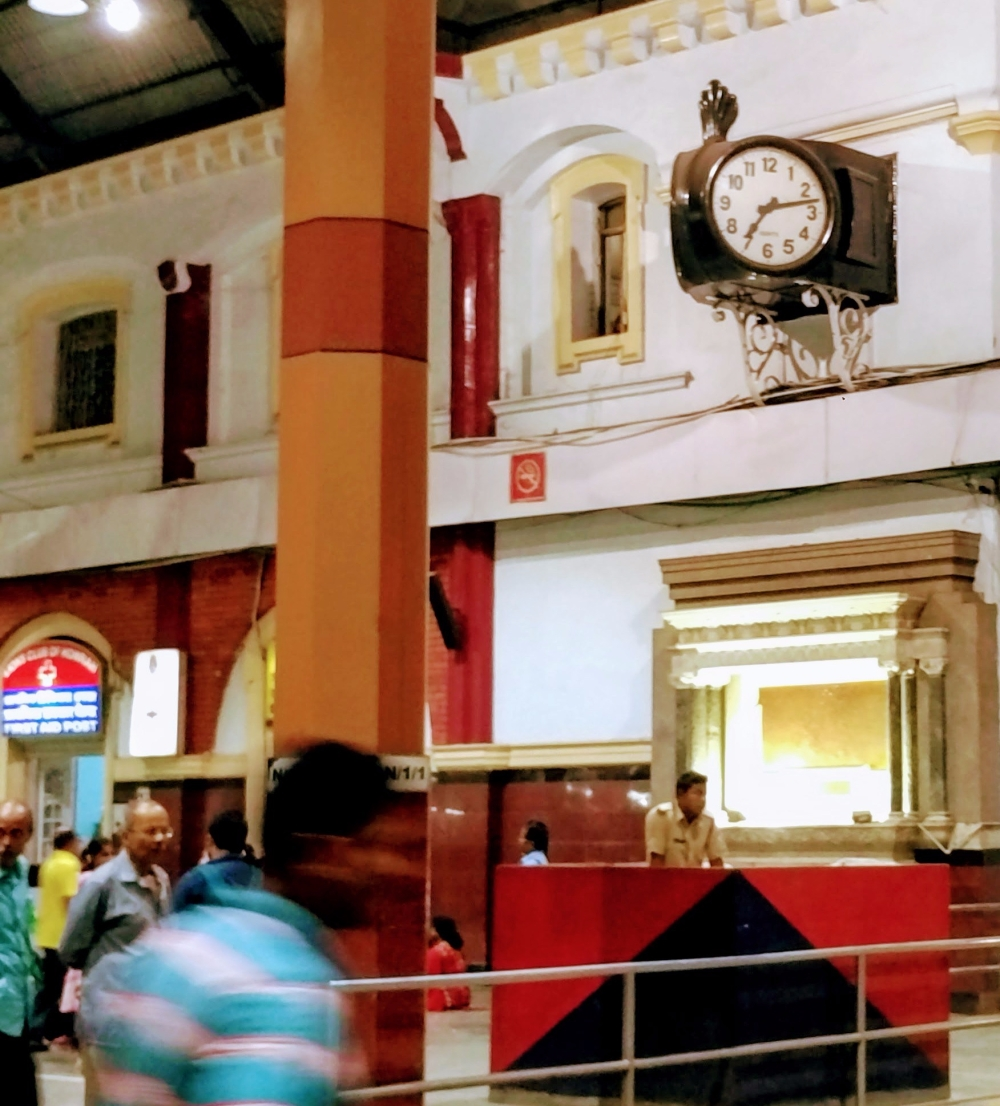 Old analogue clock at Howrah Station