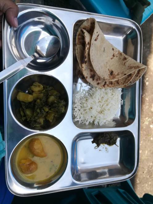 The lunch served @ Nabi